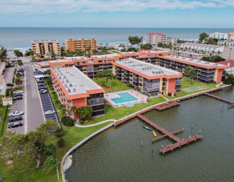Aerial View of Bay Mariner Property